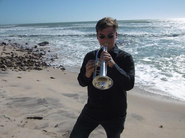 Stephan am Strand von Swakopmund